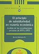 El principio de subsidiariedad en materia econ�mica