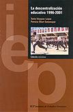 La descentralización educativa 1996-2001